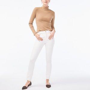 J. Crew highest-rise skinny jean in white denim